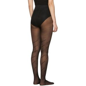 Balenciaga Monogram Panty Hose Tights Stockings